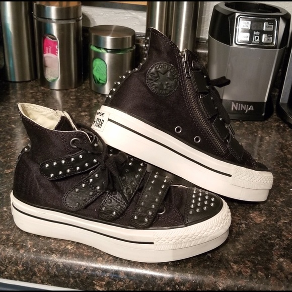 Converse Shoes - Converse black platform hi-top sneakers 6
